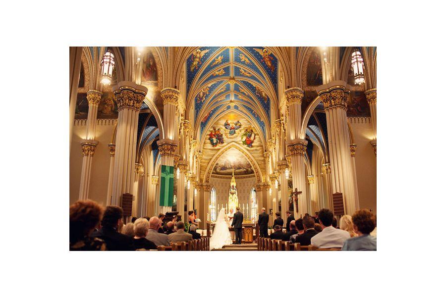 Charleston Sc Brides Wedding On Campus Basilica Of The Sacred Heart At University Notre Dame